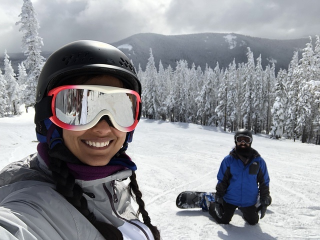 Snowboarding on Mt. Hood